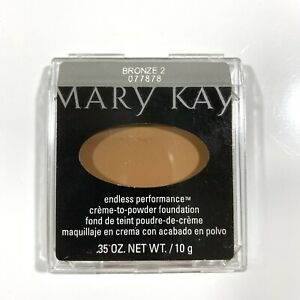Mary Kay Endless Performance Crème-to-Powder Foundation BRONZE 2 - Full Size