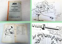 Agria Ersatzteilliste Seitenmäher Zwischenachskreismäher Ersatzteilkatalog 1973