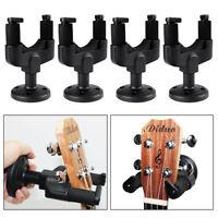 4 Pack Guitar Wall Mount Hanger Stand Rack Hook Holder for Guitar Ukulele Bass