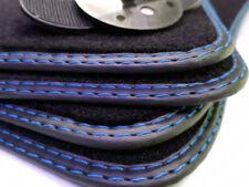 Fußmatten BMW 1er E87 Original Qualität Velours Doppelnaht Blau 4 Klett GRATIS