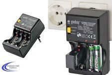 Steckerlader für Akku - AA AAA 9V Block - Mignon Micro Ladegerät  NiCD / NiMh