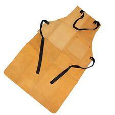 Heavy Duty Suede Leather Welders Welding Blacksmiths Glaziers Apron Bib +Pocket
