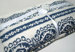 Pottery Barn Creamy Ivory Blue Lori Paisley King Cal King Quilt New Stains Dots