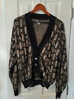 Men's Vintage tricots st.raphael Cardigan Sweater. USA. Coogi like.Cosby. Issue