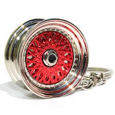 Llanta llavero BBS Style-rojo/cromo metal muy elegante y de alta calidad