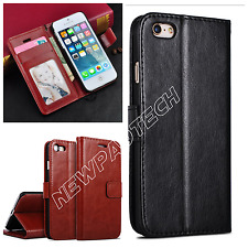 For iPhone 5 5S New Slim Rich Luxury Magnetic Leather Wallet Flip Case Cover