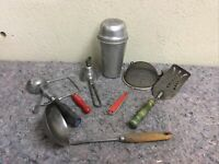 Lot Of Vintage Kitchen Utensils Including CocoMalt Shaker