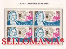 1979 CENTENARIO DE LA SALLE SAINT JEAN BAPTISTE SALLE  2511 ** MNH B4 TC21561
