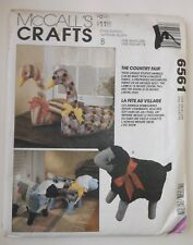 """McCall's 6561 Sewing Pattern 'The Country Fair' Stuffed 15"""" Lamb or 20"""" Goose UC"""