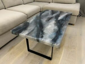 Stone effect Epoxy Resin Coffee table, 1100x600mm