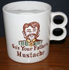 Vtg Lego Shaving Mustache Mug So's Your Father's Mustache, Large-sized Japan Exc