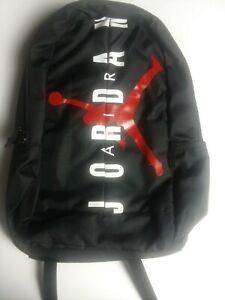 "New NIKE AIR JORDAN JUMPMAN LOGO BLACK /Red LARGE 17"" Backpack /Laptop Storage"