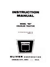 Oliver Bd Crawler Tractor Service Operators Manual Ol