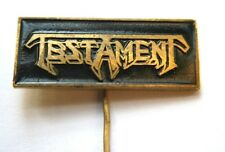 TESTAMENT Original VTG 80/90s Enamel Metal Pin Badge Rare(not shirt patch lp cd)