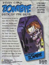 Seven card zombie deck of the dead fun family card game of Strategy & Ghoul NEW