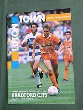 Luton Town / la ciudad de Bradford-Liga Copa 90/91