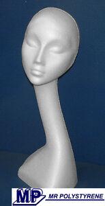 1 POLYSTYRENE SWAN NECK MANNEQUIN DISPLAY HEAD