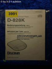 Sony Bedienungsanleitung D 828K CD Player (#3991)