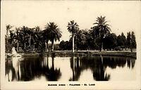 Buenos Aires Argentinien Argentina AK ~1930/40 Palermo El Lago Teich See Palmen
