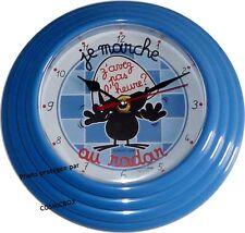 Pendule CALIMERO je marche au radar horloge mural bleu AVENUE of the STARS neuve