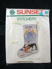 VINTAGE - SUNSET STITCHERY - THE LITTLE SHEPHERD - EMBROIDERY KIT - UNOPENED