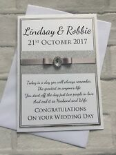 Handmade Personalised Luxury Congratulations on your Wedding Day Card