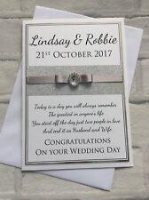 Fatto a mano Lusso Personalizzato congratulazioni per il tuo matrimonio carta