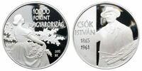 2015 Ungarn, 10000 Forint Istvan Csok PP, Silber, Ag 925, RAR