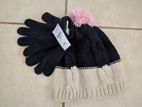NWT Girls OshKosh Hat and Glove Set 4-6X