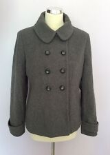 PRÉCIS GREY DOUBLE BREASTED WOOL BLEND JACKET SIZE 10