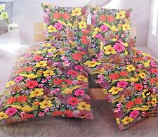 10 tlg. Bettwäsche »PARROTS« bunte Blumen, kuschliges Thermo Fleece, 135 x 200cm