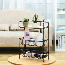 3Tier Silver Metal Storage Rack Shelving Wire Shelf For Kitchen/Office Unit 38cm
