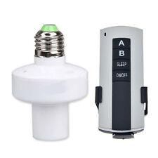 HOT E27 Screw Wireless Remote Control Light Lamp Bulb Holder Cap Socket Switch