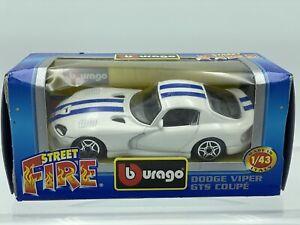Bburago Street Fire Dodge Viper GTS Coupe, 1/43 Scale Die Cast Car Italy