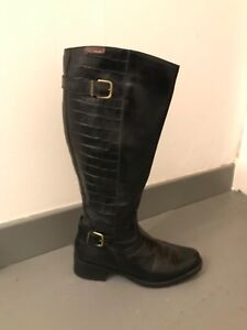 spanish leather riding boots