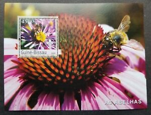 [SJ] Guinea Bissau Honey Bee 2003 Insect Flora Fauna Flower Scout (ms) MNH