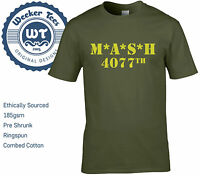 MASH 4077th Tribute T Shirt Military Army Green New Men Size S - XXL