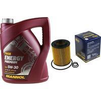 Ölwechsel Set 5L MANNOL Energy Premium 5W-30 + SCT Ölfilter Service 10164347