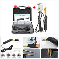 Car Bumper Repair Welding Machine Plastic Repair Kit+Smoothing Iron+200x Stapler