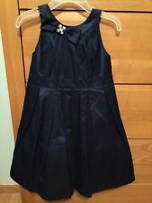 Gymboree Festive Celebrations Girls Navy Blue Holiday Dress SZ4 Lined Tulle