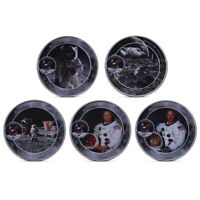 5 US Apollo 11 Moon Landing Mission Astronauts Space Mining Footprint Coin Set A