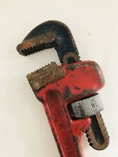 """RED Vintage 14"""" HI-TEST DELUXE PIPE WRENCH Drop Forged Jaws, Made In Japan 🇯🇵"""