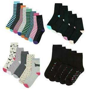 Ex M & S Women Socks 8 & 5 Pairs Soft Cotton Rich Casual Ankle Sock UK 6-12
