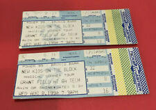 Lot Of 2 New Kids On The Block Vtg Concert Ticket Stubs Atlanta Magical Summer