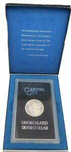 1884 CC Morgan Silver Dollar GSA Hoard w/Box & COA BU Carson City US Coin
