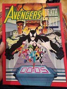 Avengers Death Trap The Vault (1991, Marvel) Graphic Novel, Venom Cover
