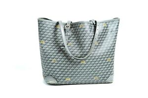Faure Le Page Daily Battle 32 Grey Canvas Leather Small Tote Bag Rare 10894