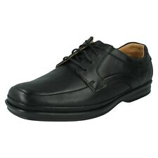 Clarks Mens Scopic Way Active Air Black Leather Shoes UK 9 H 43 Wide Fit