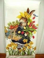 """Mary Lake Thompson """"Flower Crown Garden Rabbit"""" Flour Sack Towel"""