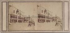 Venise Venezia Piazzetta Stereo Vintage albumine ca 1860